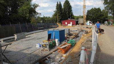 Baugrube für die neue Quarantänestation auf dem Pforzheimer Tierheimgelände
