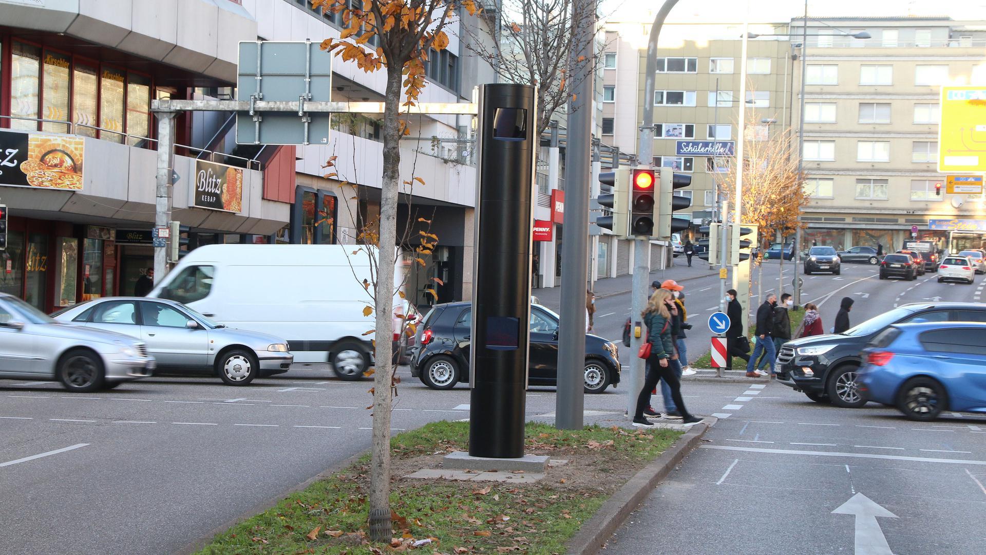 Pforzheim: Ecke Zerrenner-/Goethestraße mit Blitzer