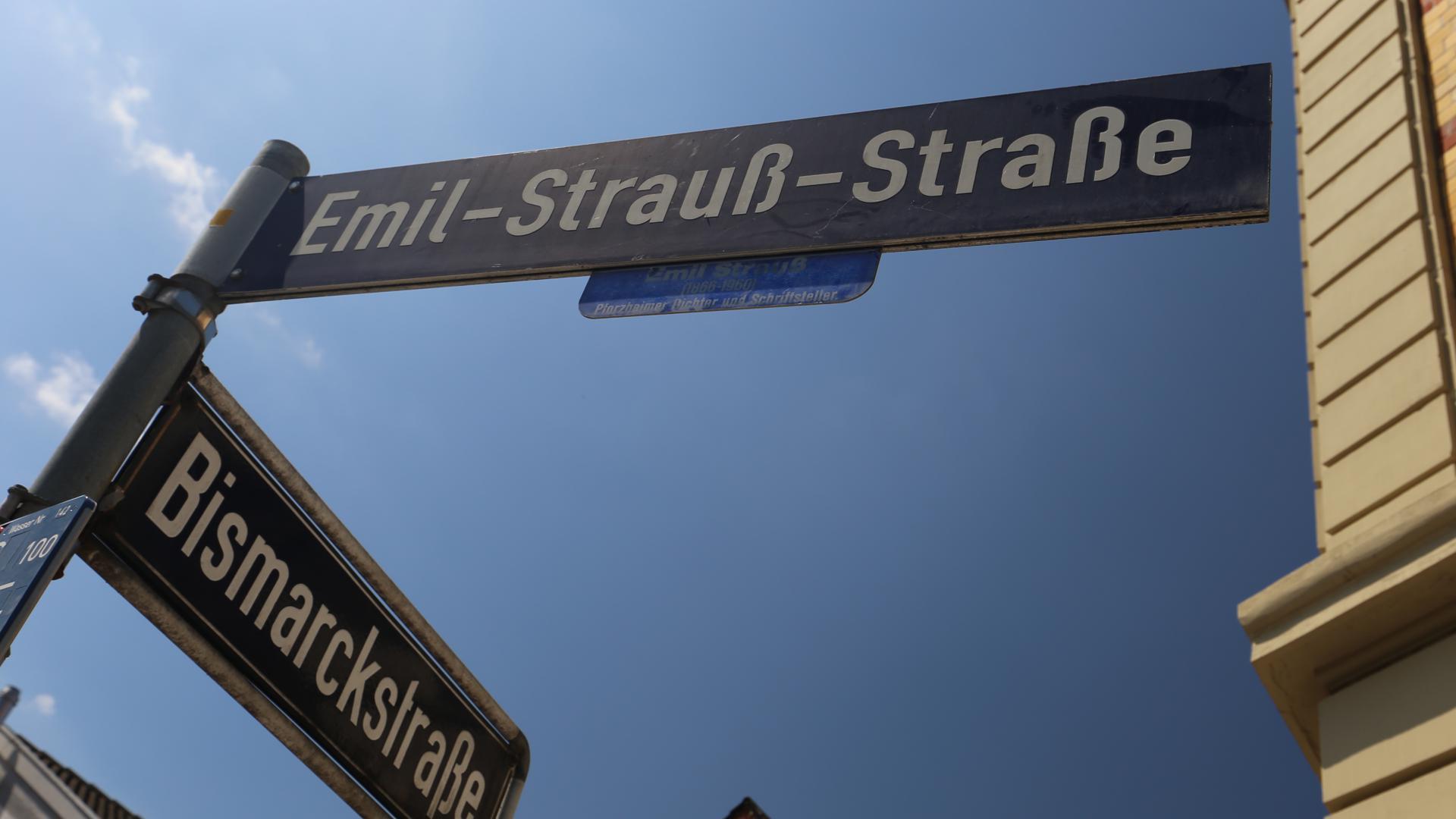 Straßenecke mit Konfliktpotenzial: Emil-Strauß-Straße und Bismarckstraße in der Pforzheimer Nordstadt
