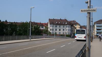 Blick auf die Nordstadtbrücke