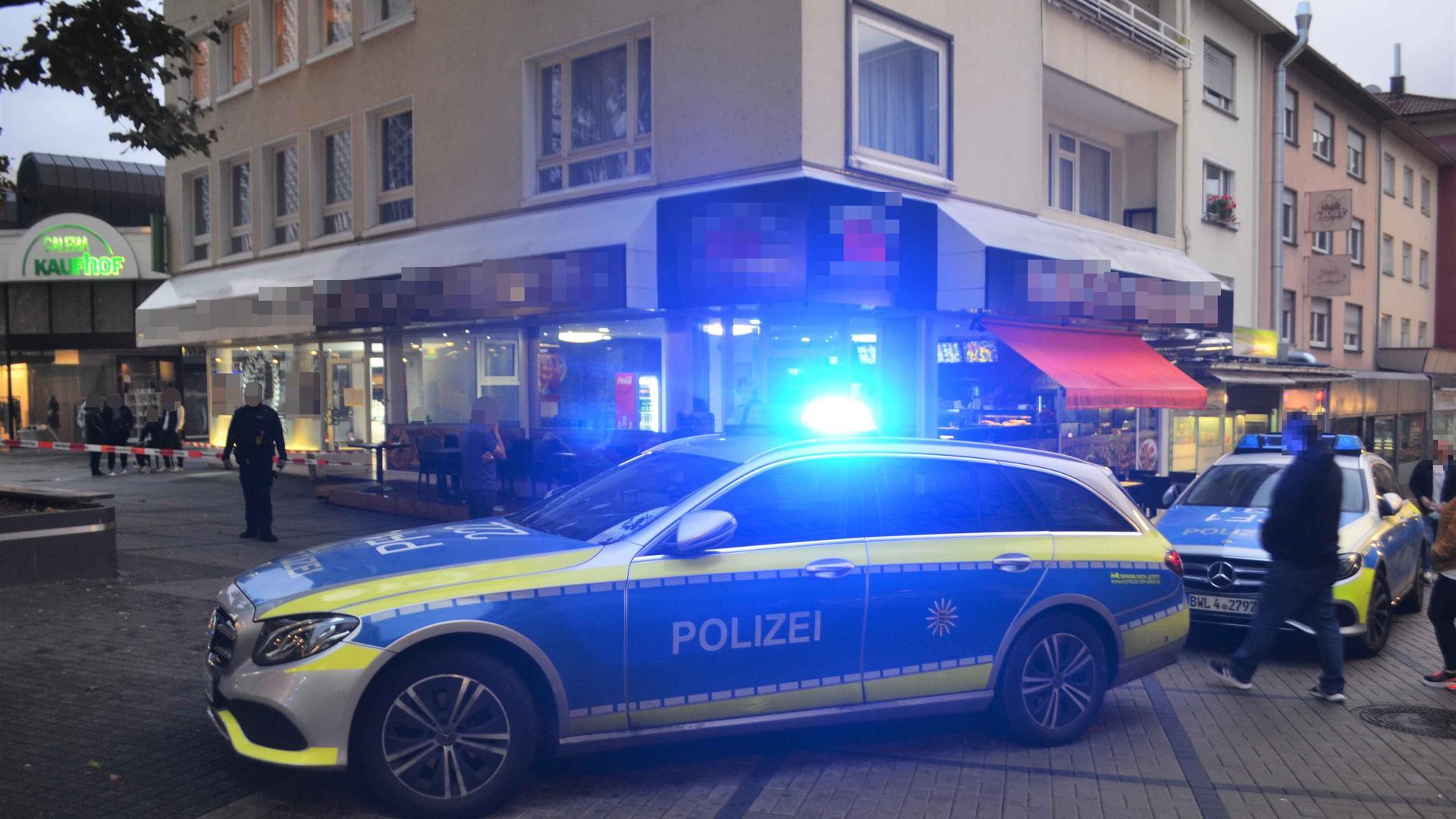 Die Polizei musste den Bereich absperren.