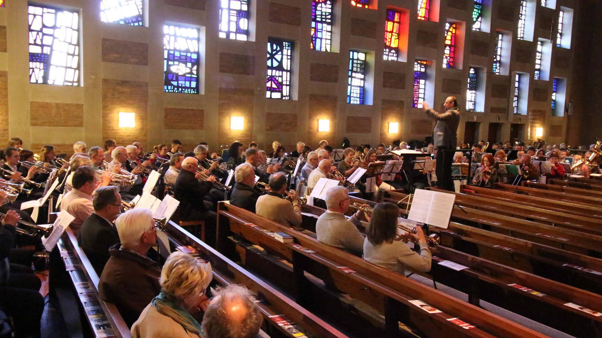 Musiker in Kirche