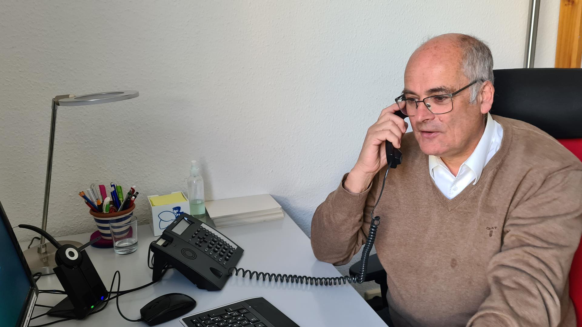 Leiter der Telefonseelsorge Nordschwarzwald, Ulrich Weber.