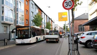Straße in 30er Zone