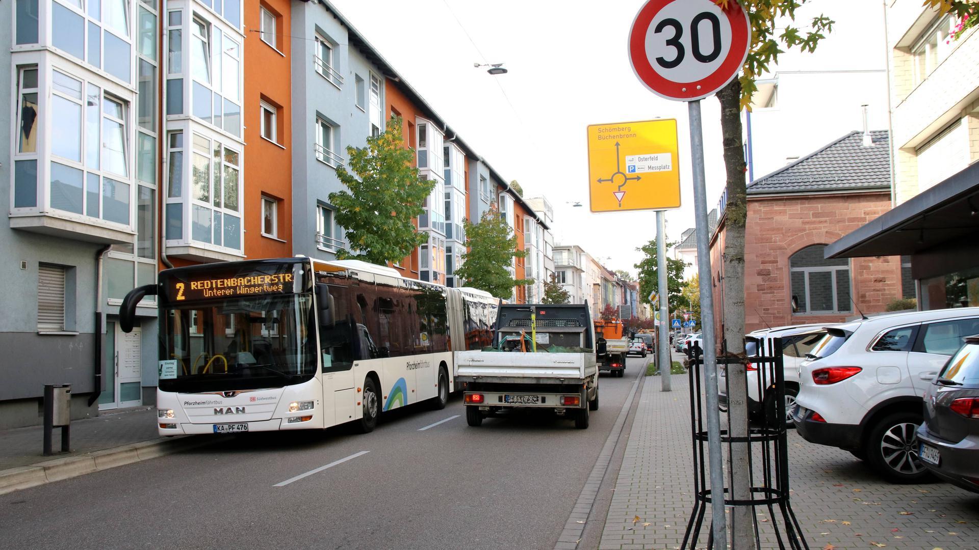 Straße in 30er Zone