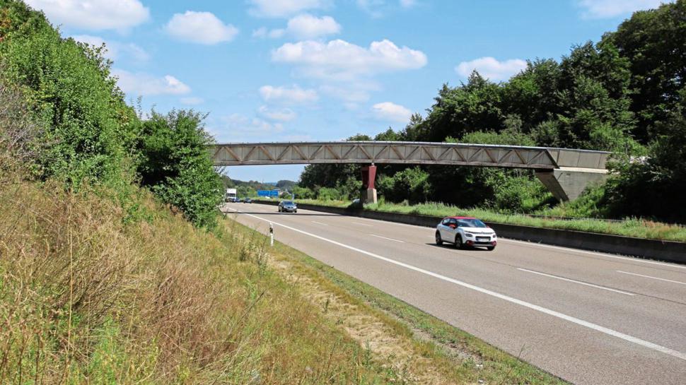 Die Holzbrücke zwischen Pforzheim und Karlsbad war zuletzt nur noch für Fußgänger und Radfahrer passierbar.