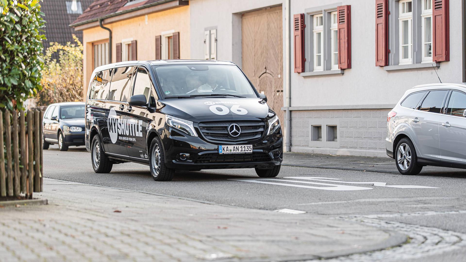 Kaum leere Sitze: Das MyShuttle fährt anders als der reguläre ÖPNV nur dann, wenn es auch gebraucht wird. Im Landkreis Karlsruhe sind bereits sieben Fahrzeuge in mehreren Kommunen im Einsatz.