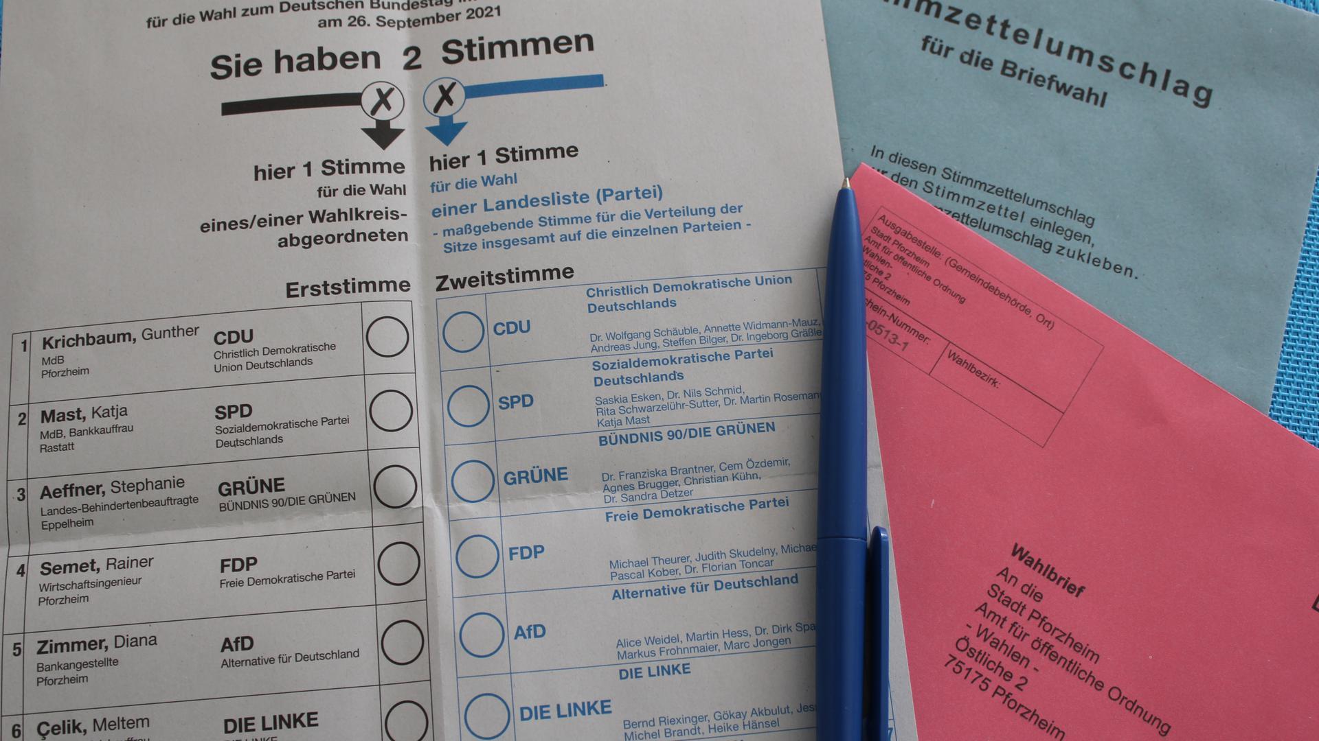 Auf hohem Niveau: Auch im Enzkreis haben vor der Bundestagswahl deutlich mehr Wahlberechtigte Briefwahlanträge gestellt. Viele Stammwähler ziehen aber nach wie vor den Urnengang im Wahllokal vor.