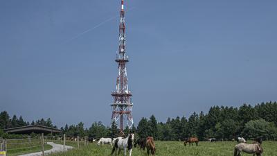 Etwa einen Kilometer vom Langenbrander Funkturm entfernt im Wald sind die zunächst vier Windkraftanlagen geplant.