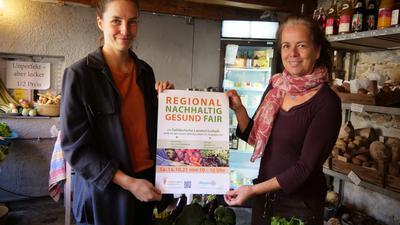 Die Solidarische Landwirtschaft liegt ihnen am Herzen: Christine Fischer von der SolidarRegion Pforzheim-Enzkreis eG (rechts) und Anika Sievertsen von der Scheune 16 in Eisingen wollen diesbezüglich kooperieren.