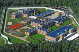 Die Justizvollzugsanstalt Heimsheim von oben.