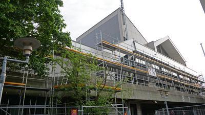 Baustelle Rathaus Illingen: Noch ist unklar, wer hier ab 25.Juli die Geschicke der Gemeinde lenken wird