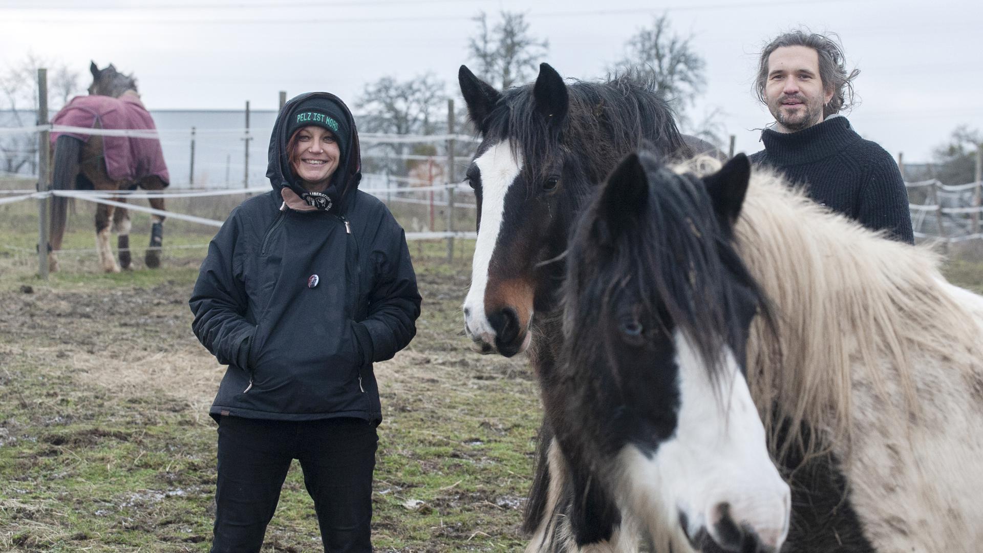 Treffen mit Helena Horvat und JohannesBänsch am 16.01.2020 auf dem Hellerhof in Knittlingen zu einem Gespräch über vegane Lebensweise.