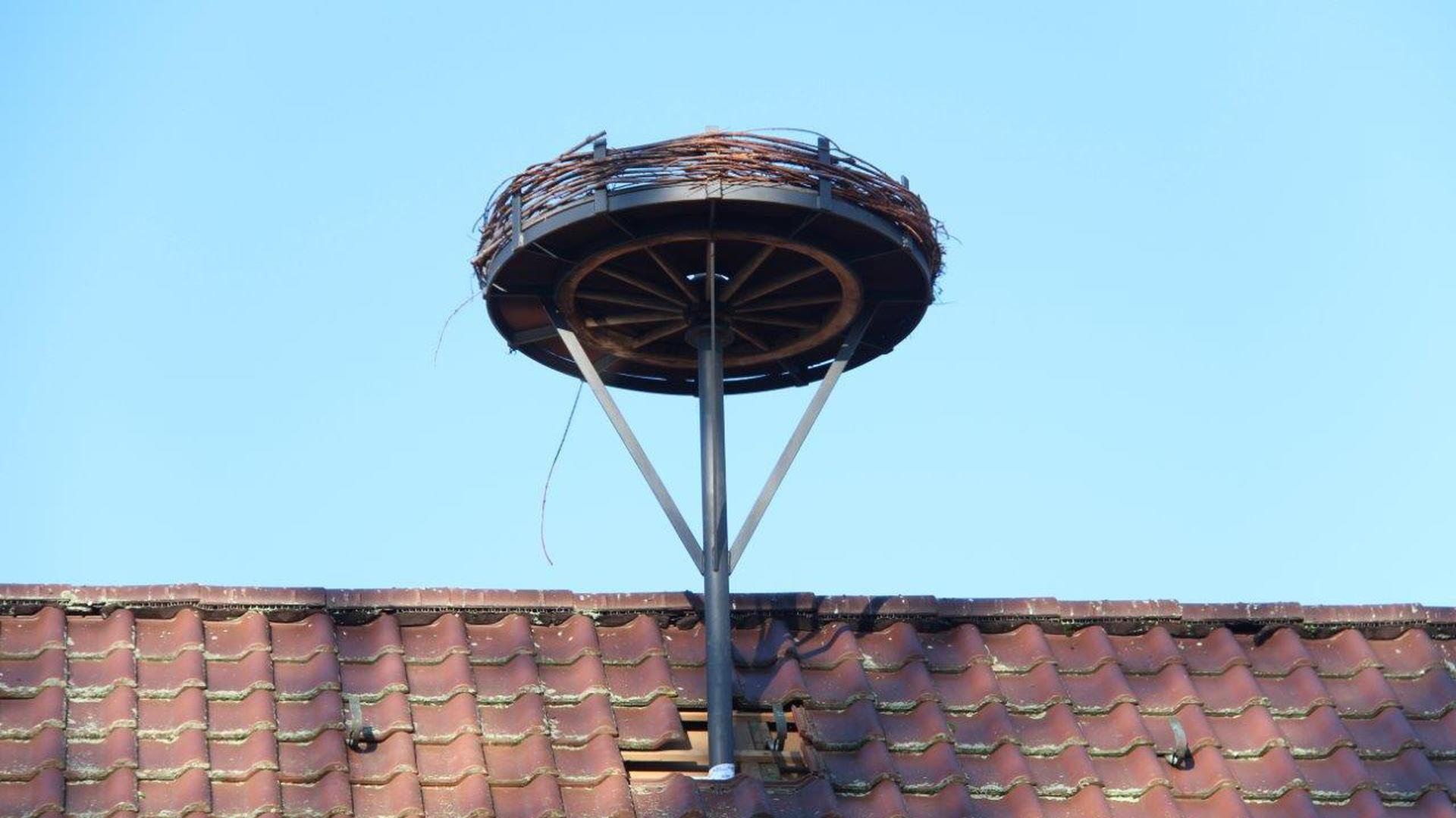 Neues Nest: Auf dem Dach des Bauhofs in Niefern-Öschelbronn soll im Frühjahr ein Storch nisten.