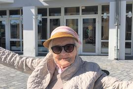 Bis ins hohe Alter war Hildegard Fabian gerne unterwegs.