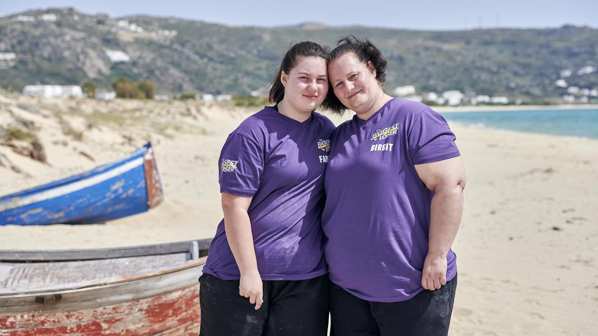 """Birgit (rechts) und Tochter Fabienne aus Straubenhardt nehmen bei der Familienedition der SAT.1-Show """"The Biggest Loser"""" teil. Zu sehen sind sie ab Montag."""