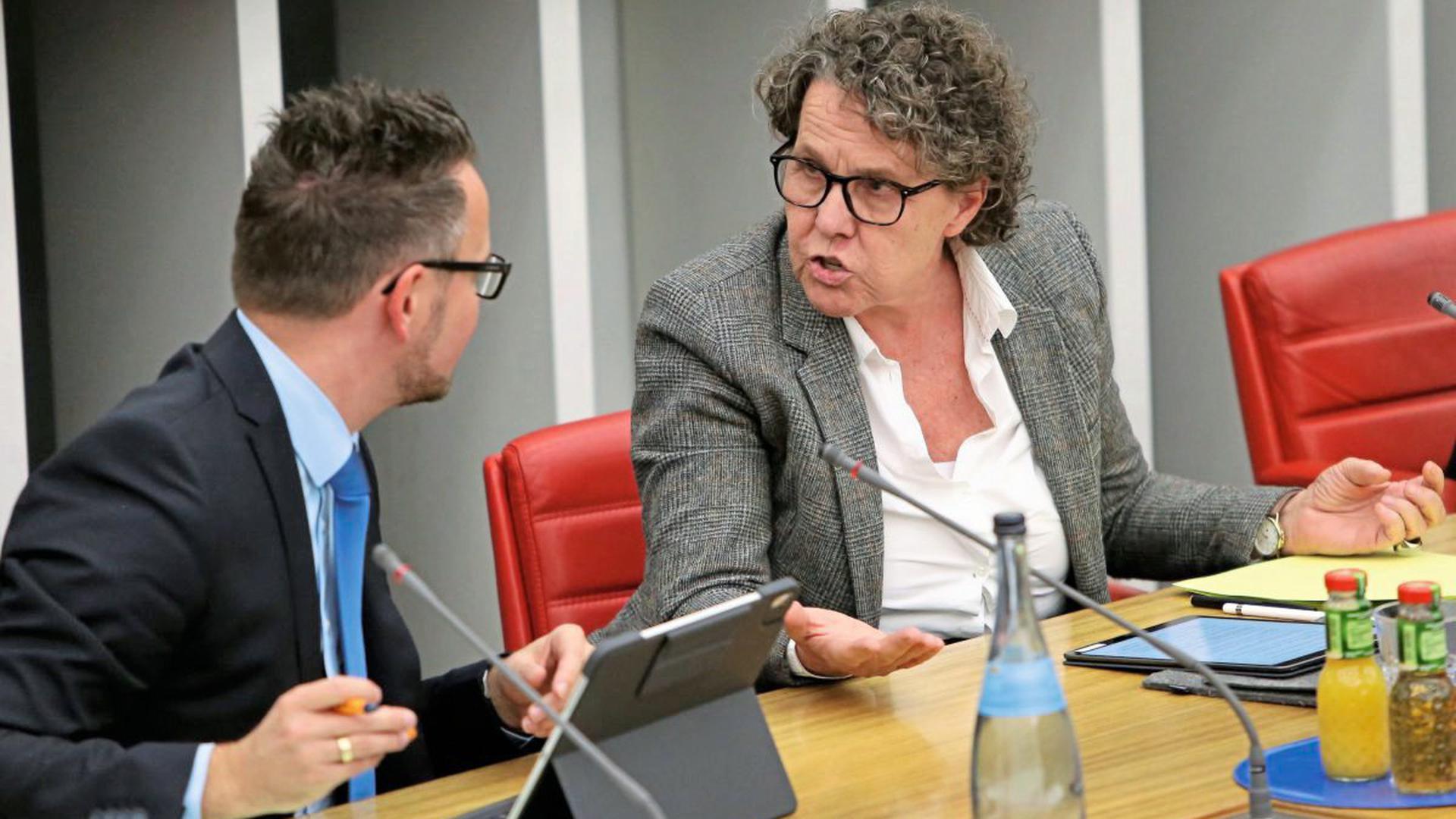 Oberbürgermeister Peter Boch (CDU) und Umweltbürgermeisterin Sibylle Schüssler (Grüne) sind am Dienstag im Pforzheimer Ratssaal aneinander geraten.