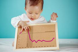 Die Geburtenrate - jahrzehntelang im freien Fall - steigt seit 2012 wieder.