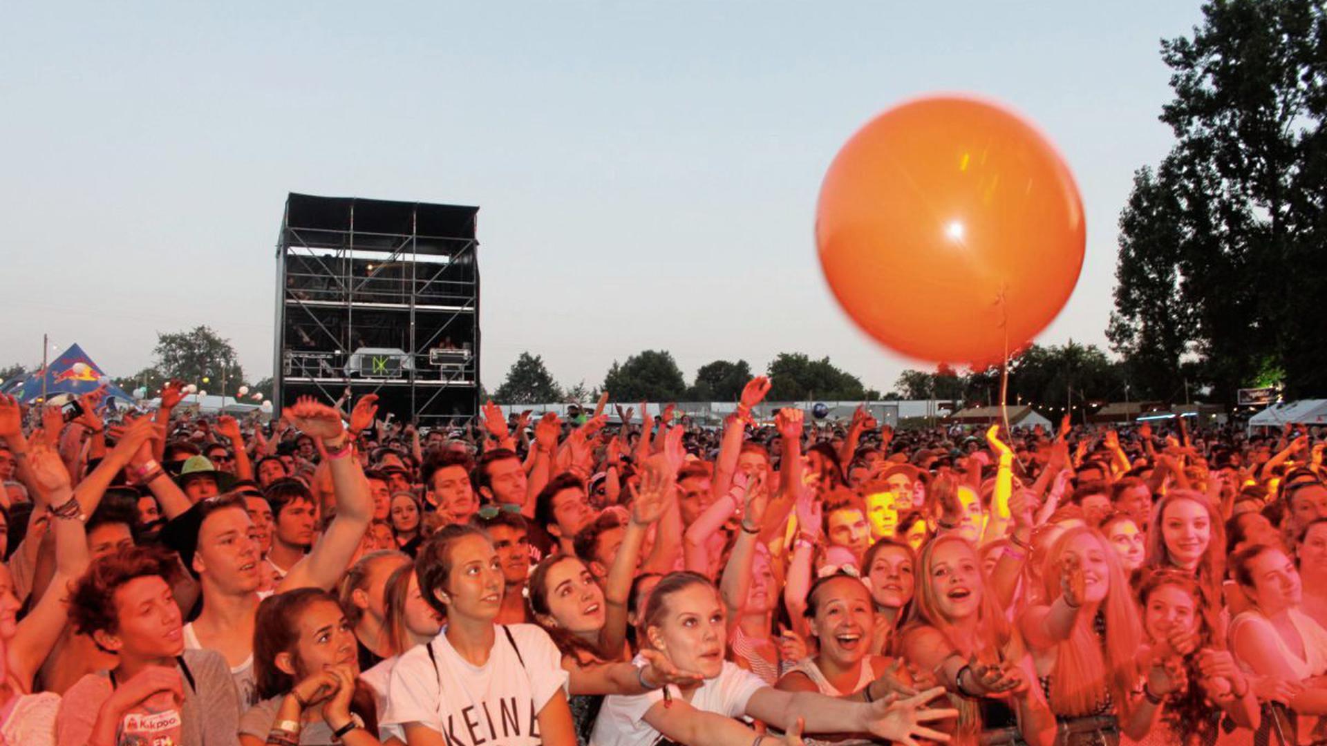 Menschenmassen beim Happiness-Festival in Straubenhardt.