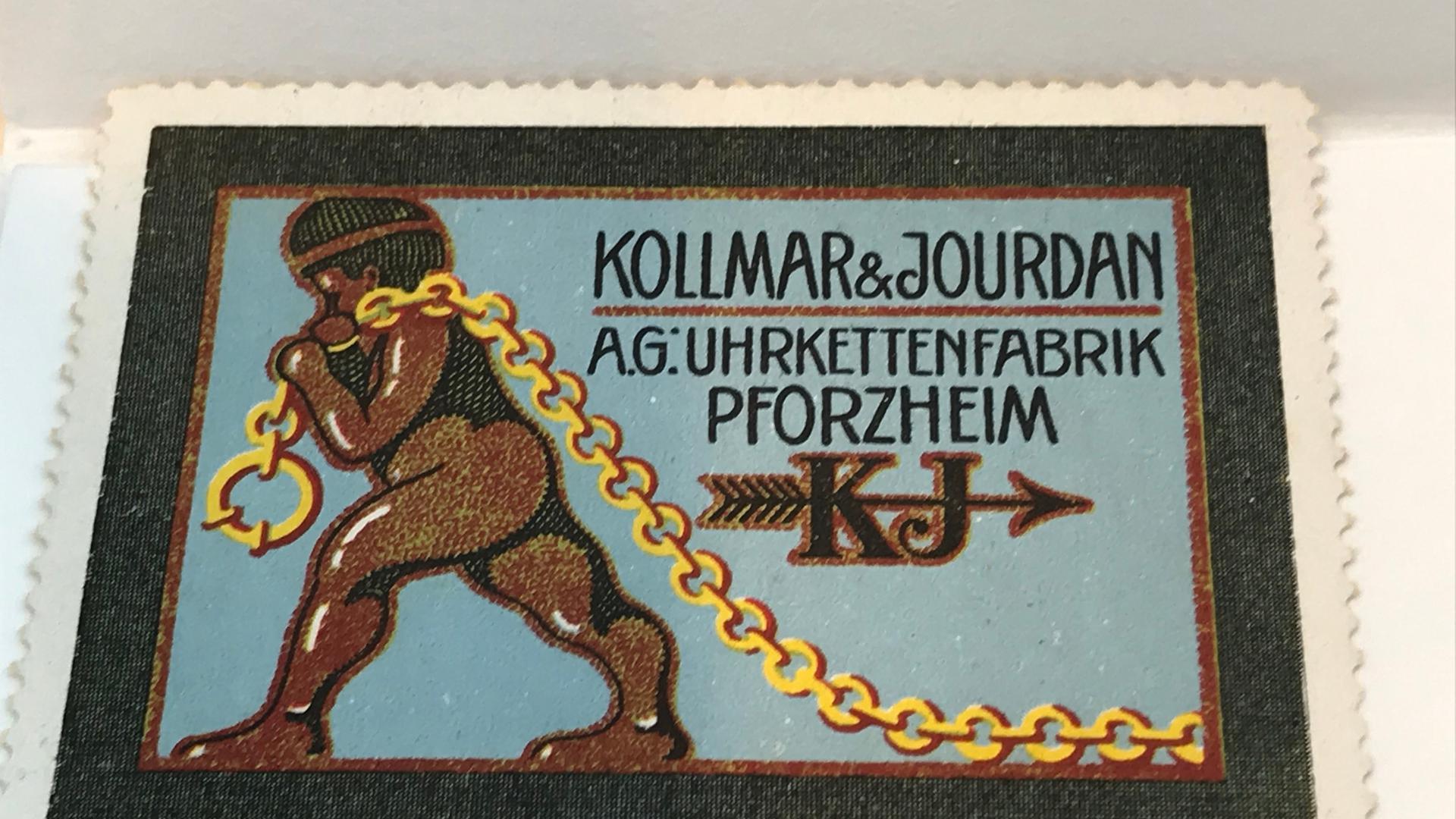 Rassistische Werbung: In den 1920er Jahren hatte die Pforzheimer Uhrenfabrik Kollmar & Jourdan mit einem kettentragenden Afrikaner als Werbebotschafter keine Probleme.