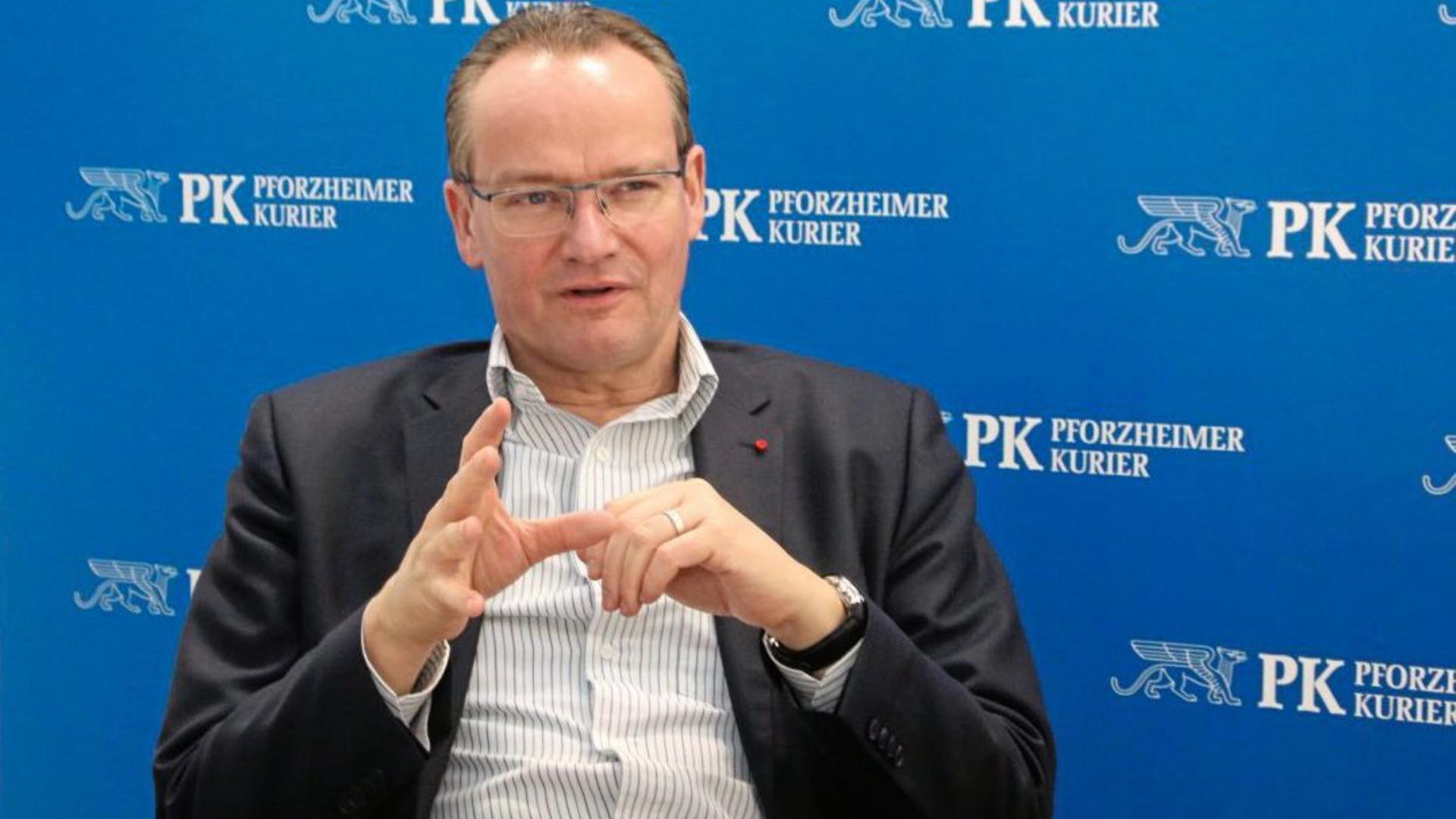 CDU-Bundestagsabgeordneter Gunther Krichbaum aus Pforzheim im Gespräch in der Pforzheimer BNN-Redaktion.
