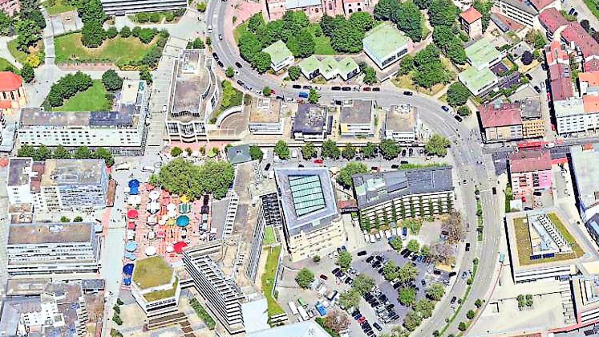 City-Ost-Projektgebiet von oben