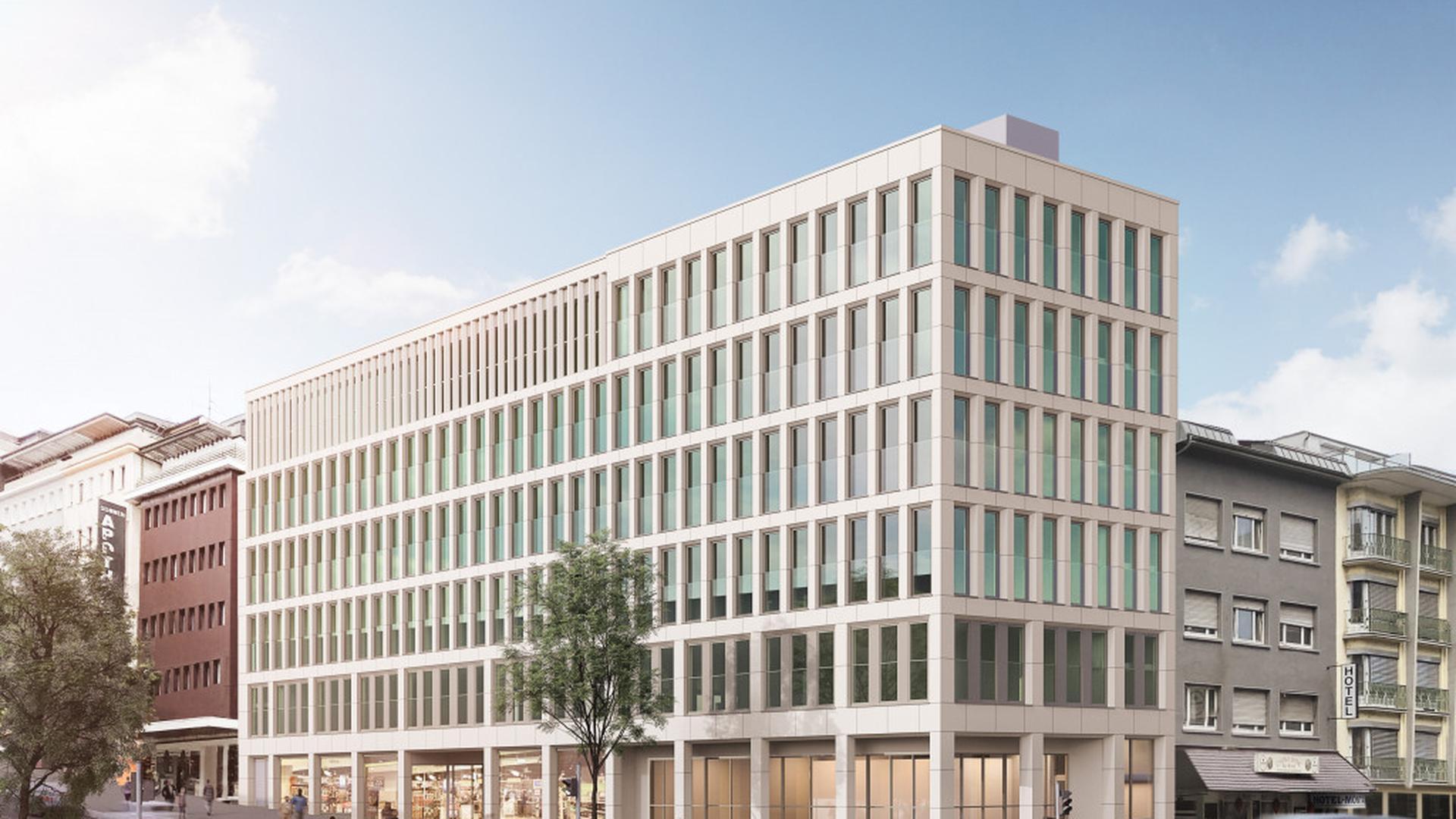 Fassadenentwurf für den Neubau Leopold-/Lamm-/Zerrennerstraße