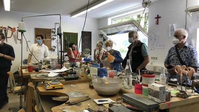 Werkstatt für Studierende der Goldschmiedeschule