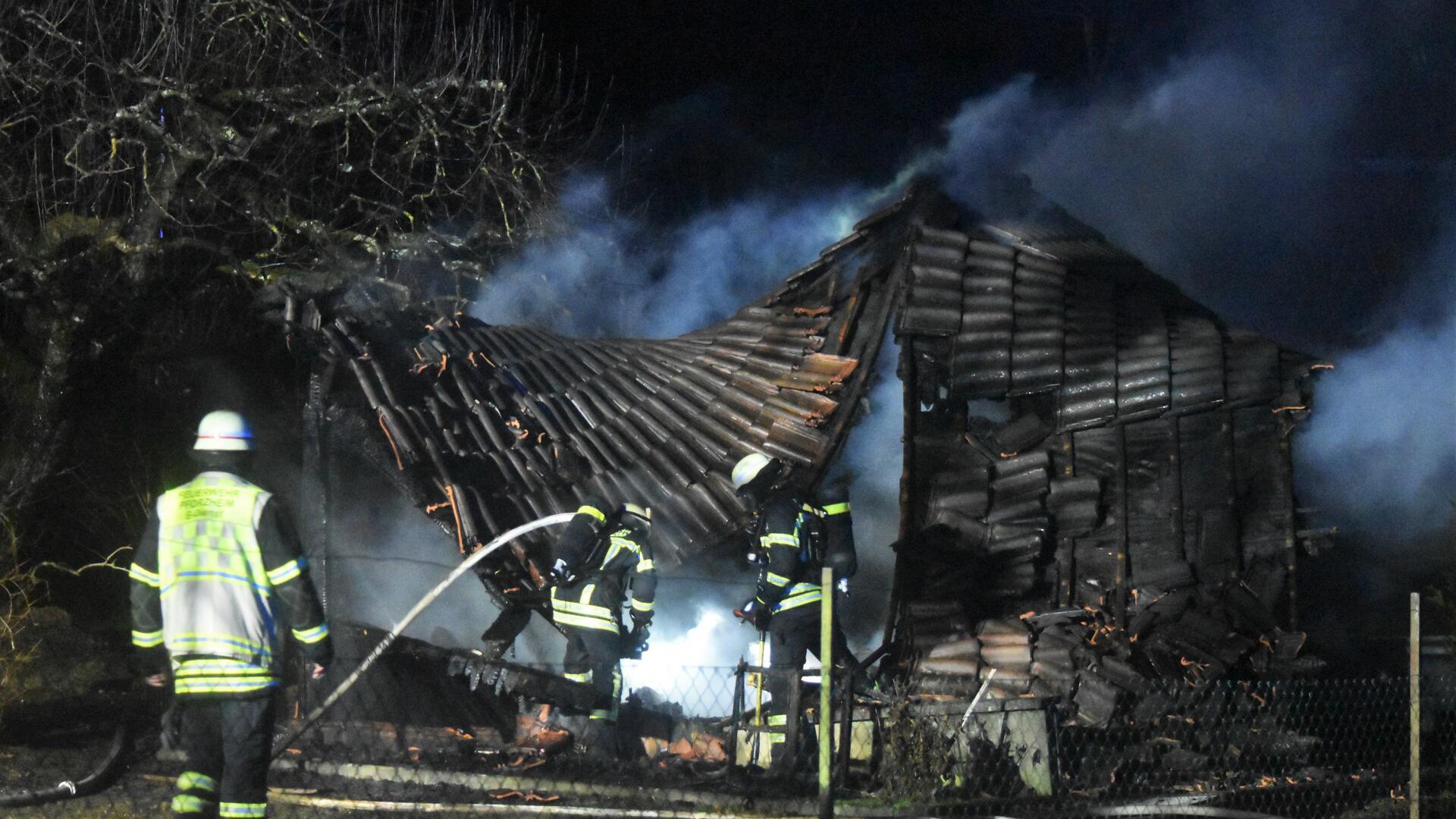 Gartenhausbrand in der Dietlinger Straße