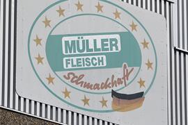 Außenaufnahme der Firma Müller Fleisch in Pforzheim