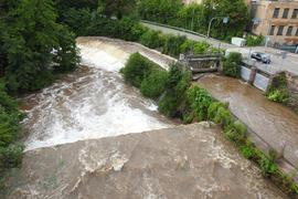 Nagold bei Dillweißenstein mit Hochwasser