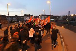 Aktionen zum 23. Februar 2019 Bahnhof Nordstadtbrücke  Demo zum Wartberg Marktplatz