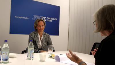 Sabine Zeitler beim Pforzheimer Kurier