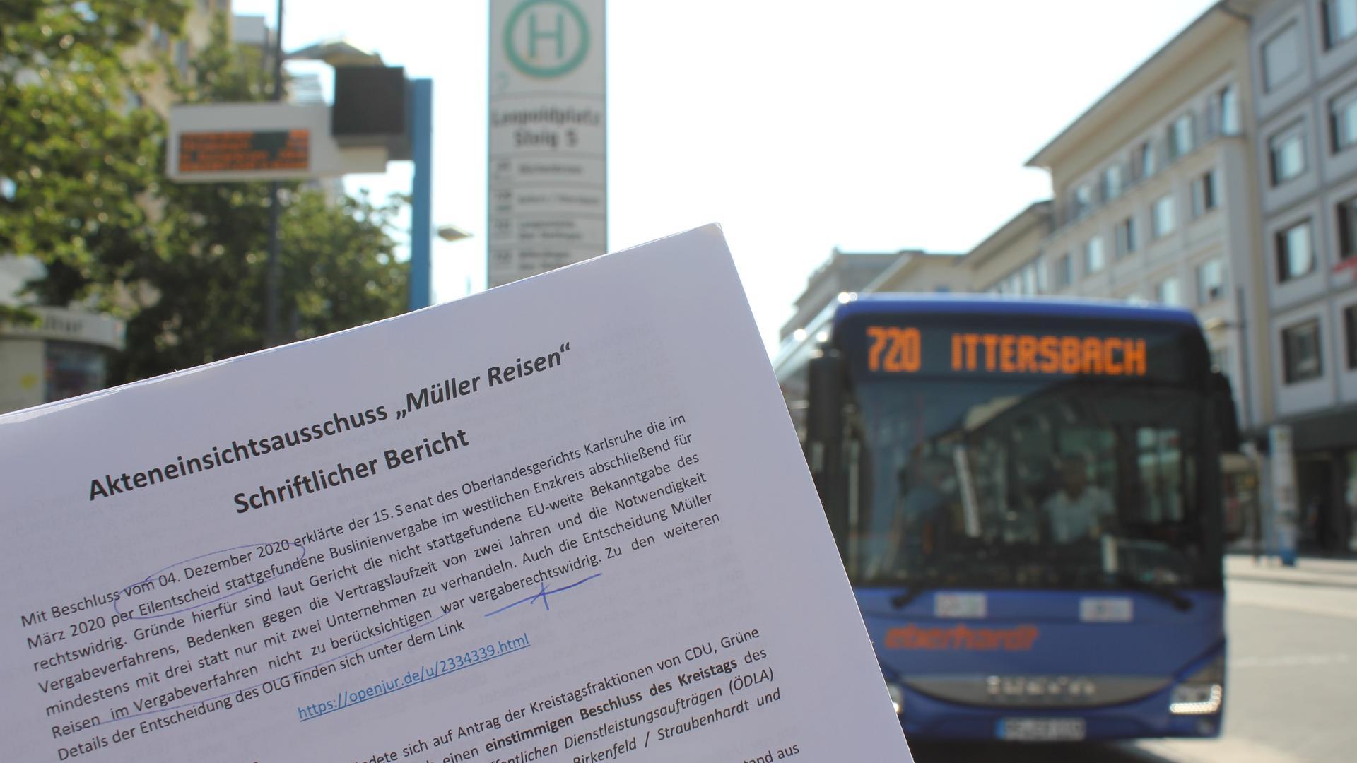 Im Thema Nahverkehr ist Feuer drin: Der Enzkreis ist dabei, das Vergabe-Debakel der Buslinien aufzuarbeiten und sieht sich mit Vorwürfen der FDP-Fraktion im Pforzheimer Stadtrat konfrontiert. Kreisräte, die im Akteneinsichtsausschuss die Hintergründe aufgearbeitet haben, wehren sich dagegen.
