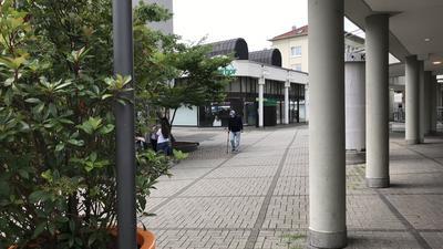 Blick auf den Pavillon von Galeria Karstadt Kaufhof in Pforzheim