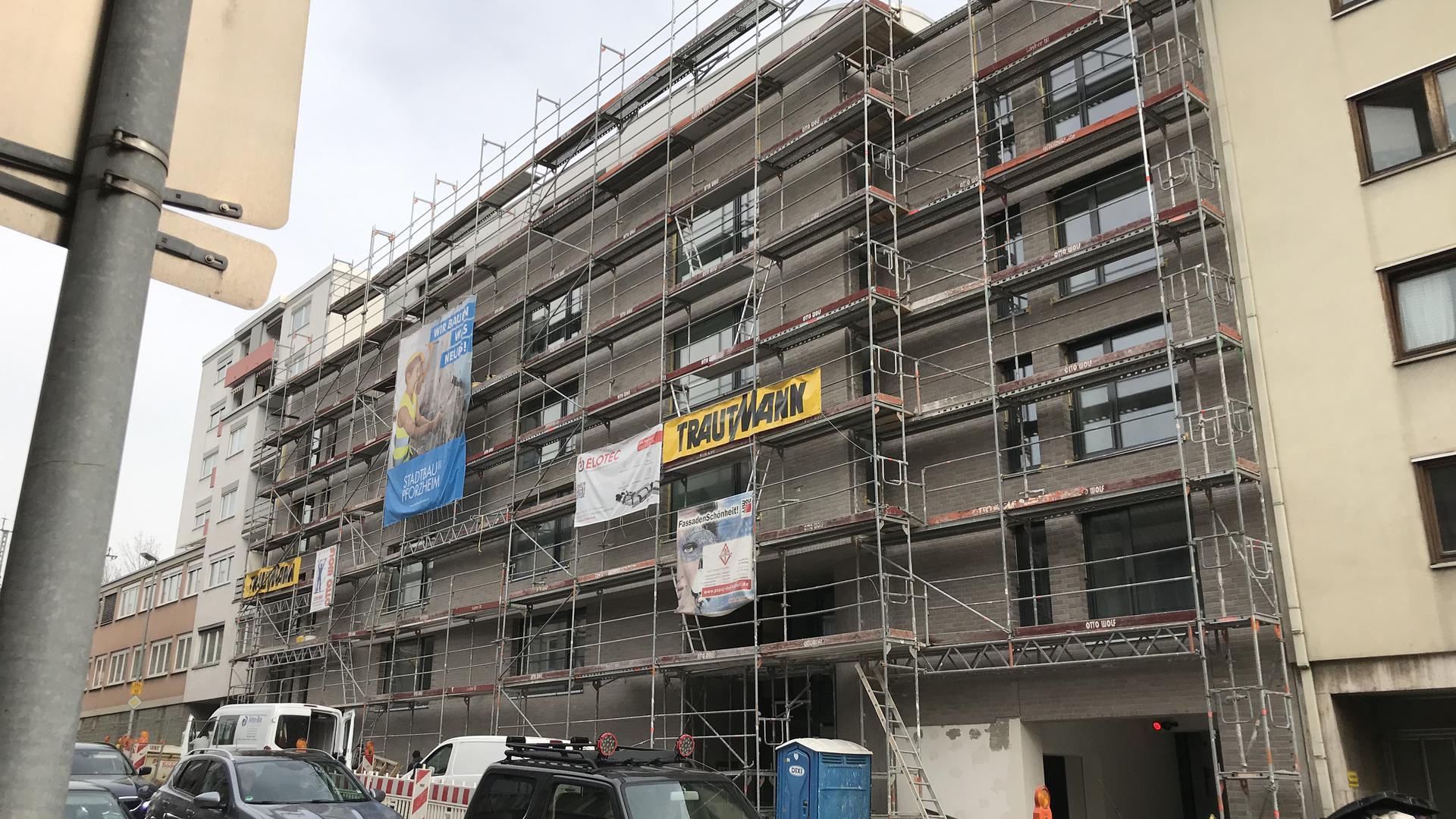 Neubau in der Stadtbaugesellschaft in der Berliner Straße in Pforzheim