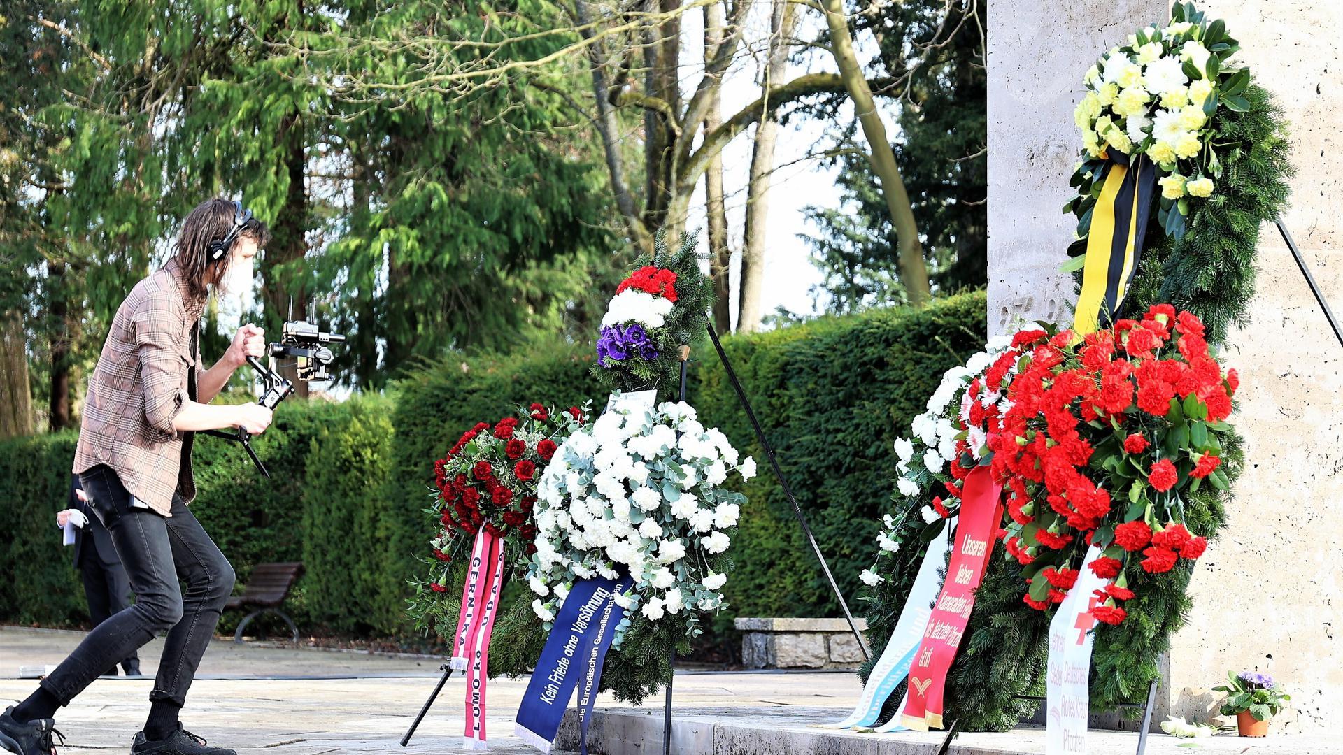 Gedenken am 23. Februar auf dem Pforzheimer Hauptfriedhof