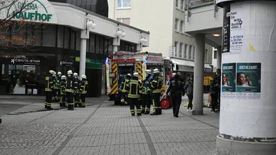 Feuer in der Blumenstraße in der Pforzheimer Innenstadt