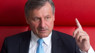 """ARCHIV- Hans-Ulrich Rülke, der Vorsitzende der FDP-Fraktion im Landtag von Baden-Württemberg, aufgenommen am 17.08.2016 bei einem dpa-Interview in Stuttgart (Baden-Württemberg). Foto: Bernd Weißbrod/dpa (zu dpa: """"Rülke sieht FDP auf gutem Weg in den Bundestag - nicht staatsgläubig"""" vom 24.08.2016) +++(c) dpa - Bildfunk+++"""