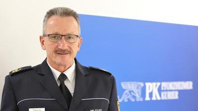 Besuch in der Redaktion: Pforzheims Polizeipräsident Wolfgang Tritsch