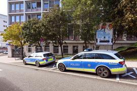 Außenaufnahme des Polizeipräsidium Pforzheim.