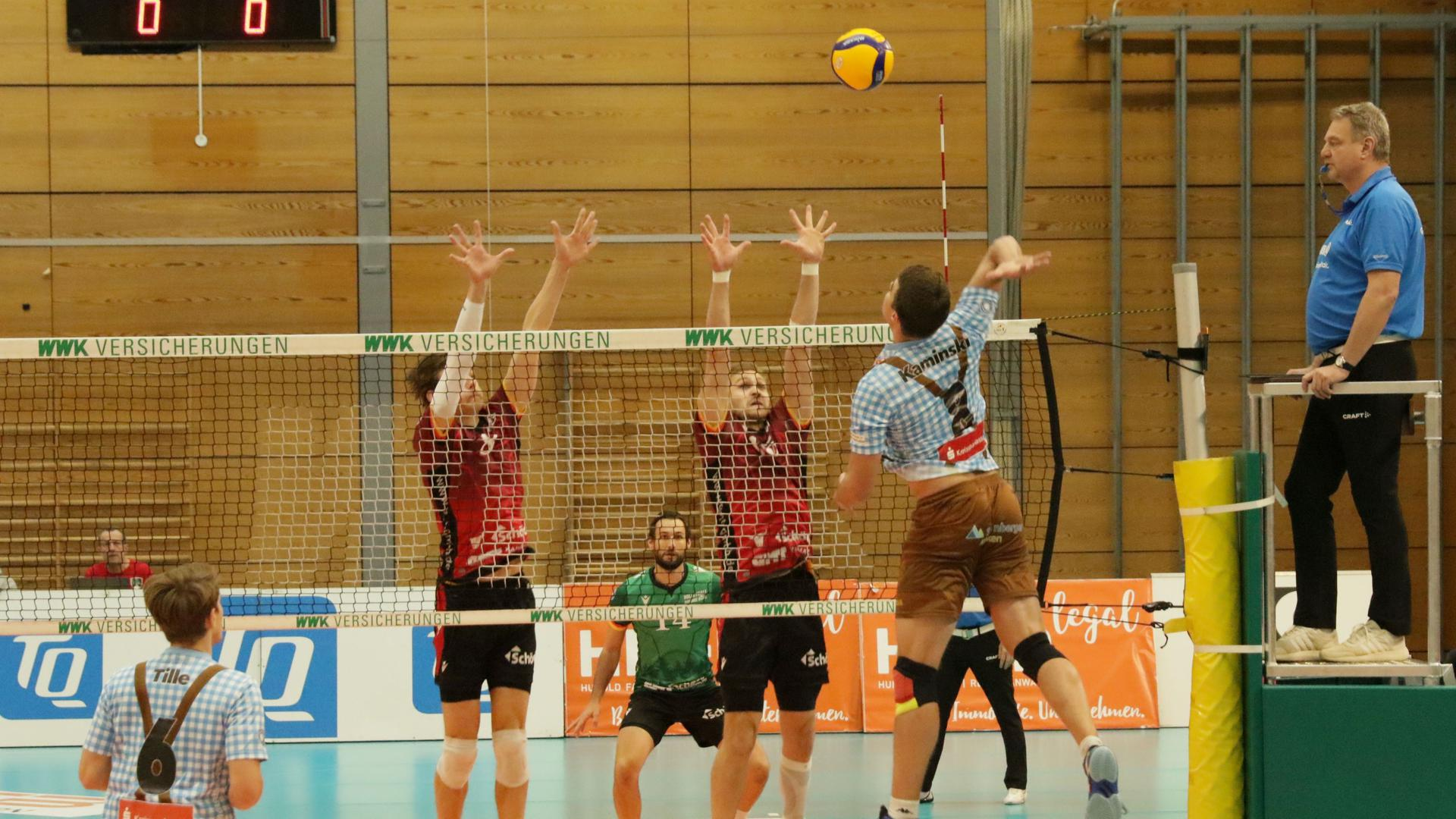 Volleyball-Bundesligaspiel Herrsching - Bisons Bühl