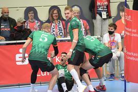 Bisons Bühl feiern 3:1-Sieg bei SVG Lüneburg, Volleyball-Bundesliga 2020/21