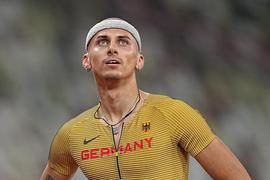 Leichtathletik: Olympia, 400m Hürden Männer, Constantin Preis aus Deutschland. +++ dpa-Bildfunk +++