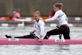 Bronze knapp verpasst: Lisa Jahn und Sophie Koch (rechts) mussten sich im Finale des C2 über 500 Meter mit Rang vier begnügen.