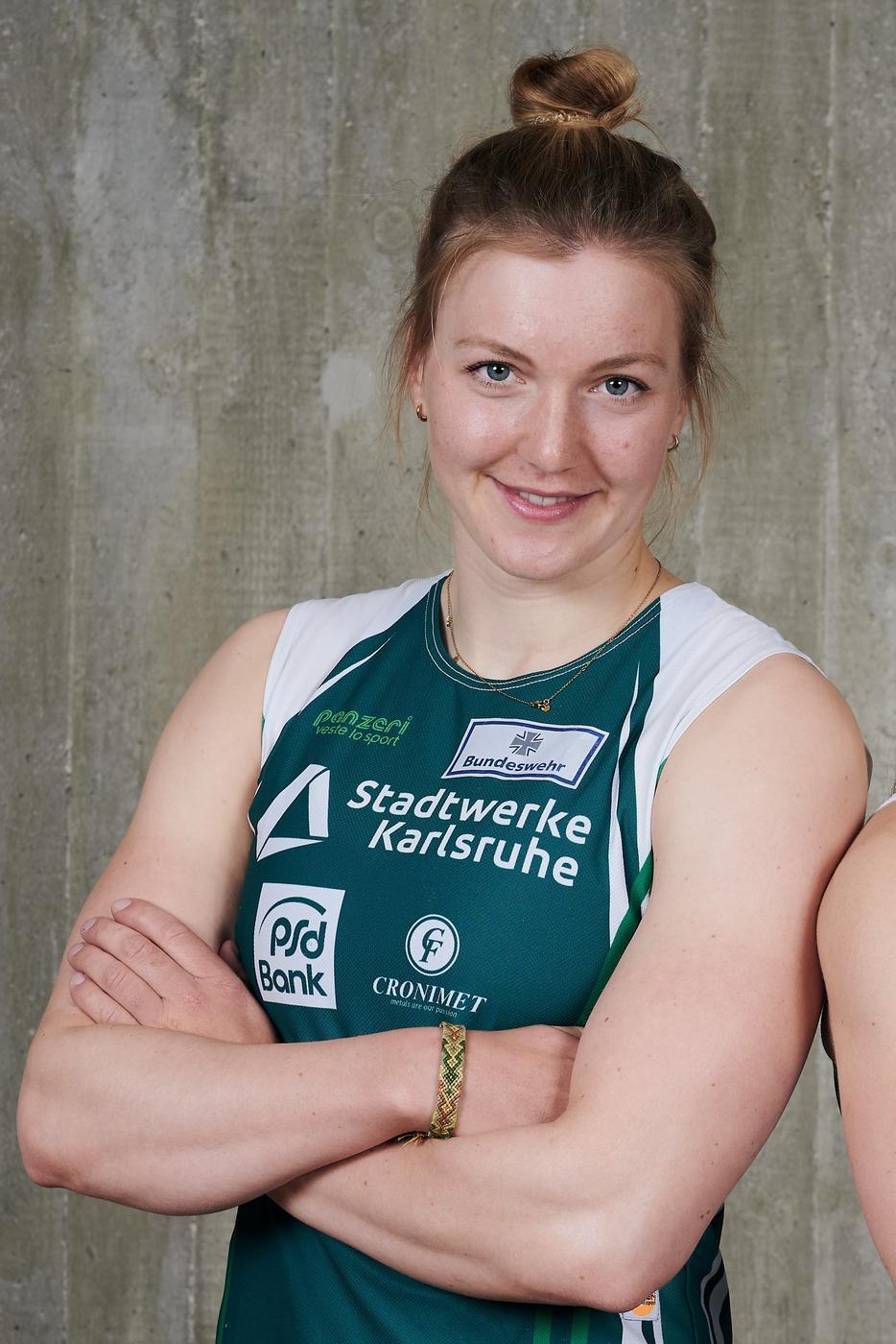 Kanutin Sarah Brüßler von den Rheinbrüdern Karlsruhe.