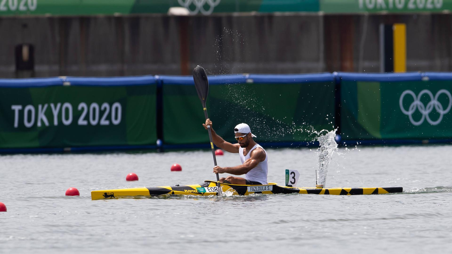 August 02, 2021: Saeid Fazloula 147 of Refugee Olympic Team in Men s Kayak 1000m race during the Canoe Sprint Heats at Sea Forest Waterway in Tokyo, Japan. /CSM Tokyo Japan - ZUMAc04_ 20210802_zaf_c04_014 Copyright: xDanielxLeax