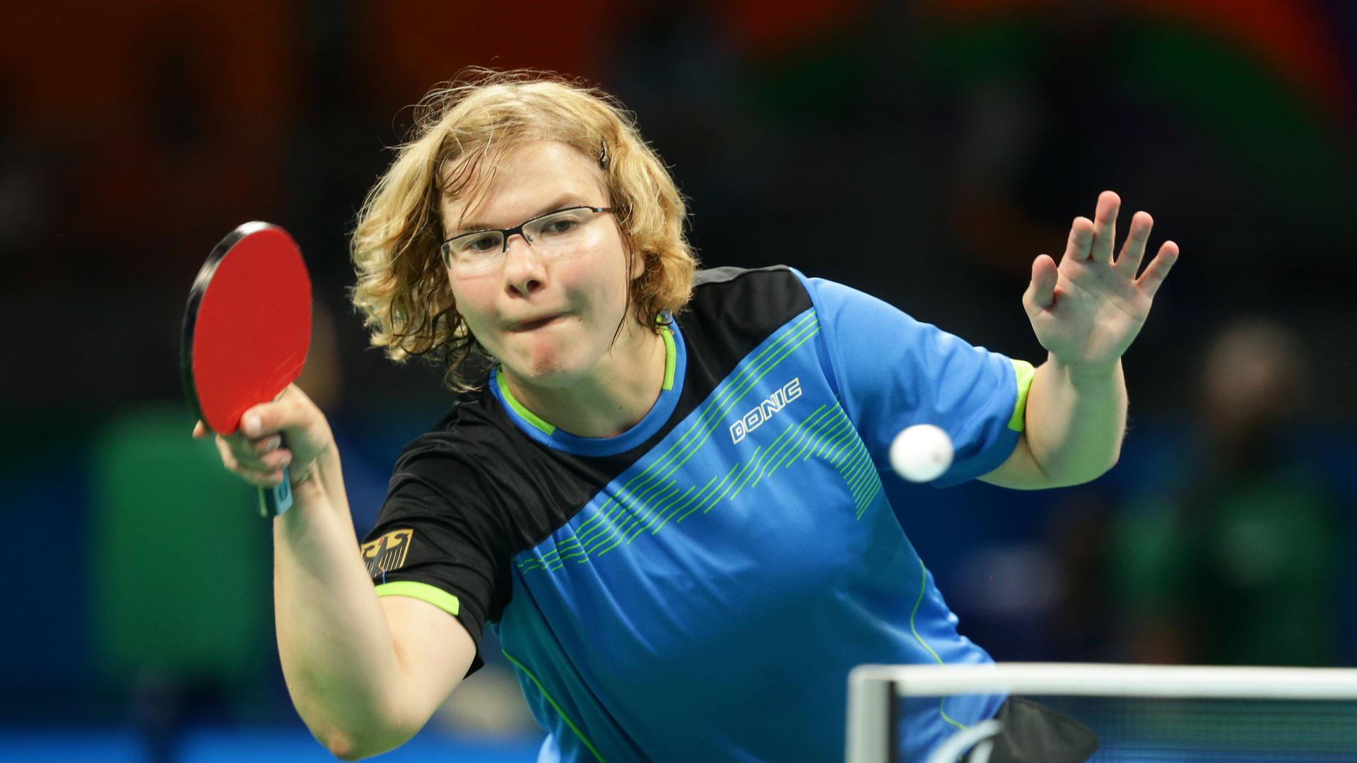 Rio de Janeiro , Paralympics , Tischtennis , Juliane Wolf ( GER )  Rio de Janeiro Paralympics Table Tennis Juliane Wolf ger