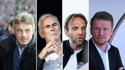 Das KSC-Komitee: Mit den besten Absichten, dem KSC auf dem Weg in die Zukunft zu helfen, sind Rainer Schütterle, Rolf Dohmen, Rainer Scharinger und Maik Franz (von links).