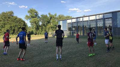 Der FC Fatihspor Oberderdingen beim Training in Gochsheim